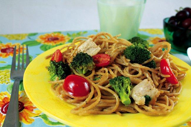 Plate of Summertime Spaghetti