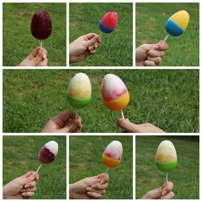 Egg shaped popsicles