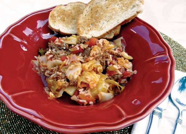 Bowl of Cabbage Roll Casserole