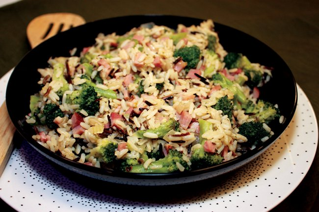 Bowl of Ham and Broccoli Skillet
