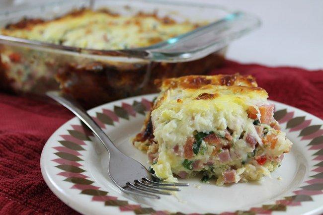 Ham Veggie Frittata