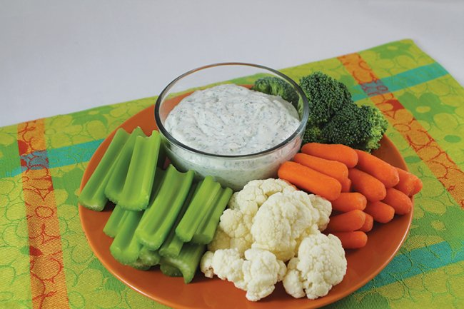 Plate with Homemade Ranch Dip