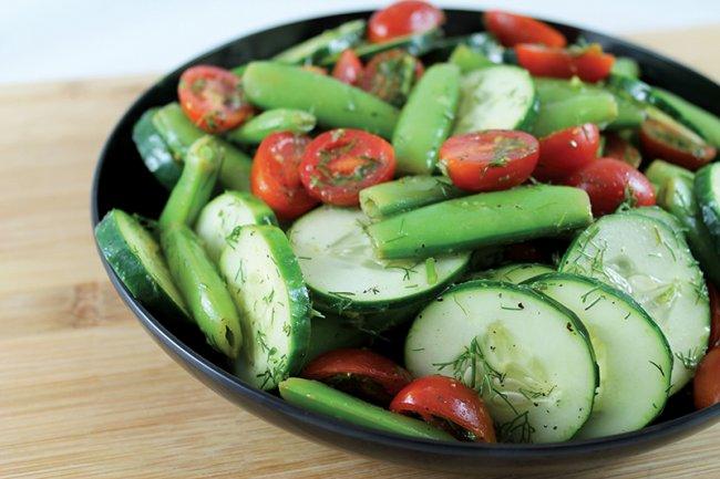 Plate of Summer Cucumber Dill Salad
