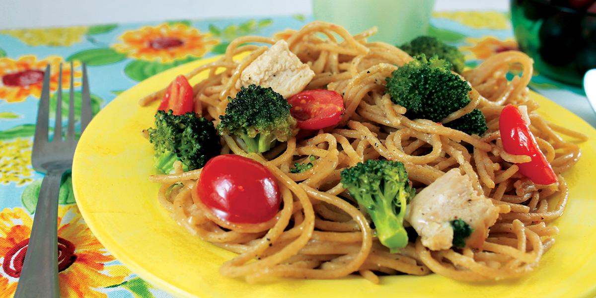 summertime spaghetti plated