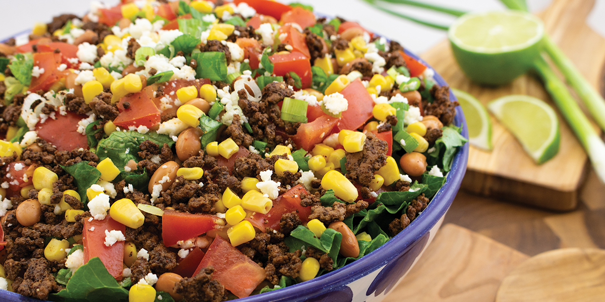 Bowl of Beefy Taco Salad