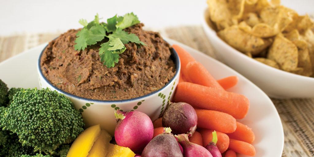 Bowl of Chipotle Black Bean Dip