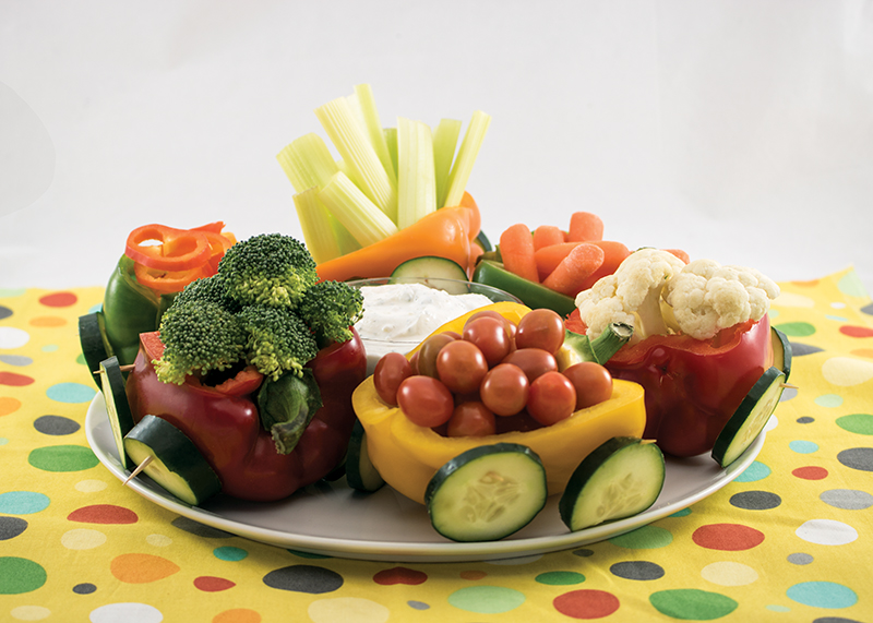 Vegetable train display