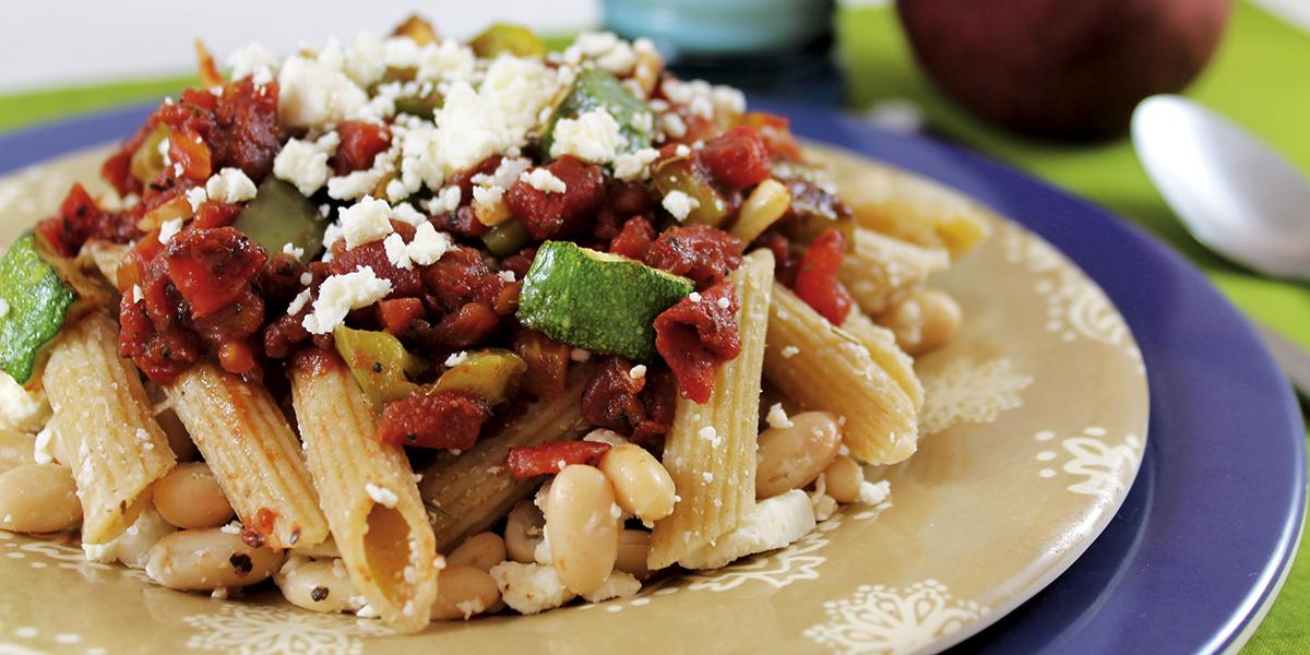 Plate of Mediterranean Pasta