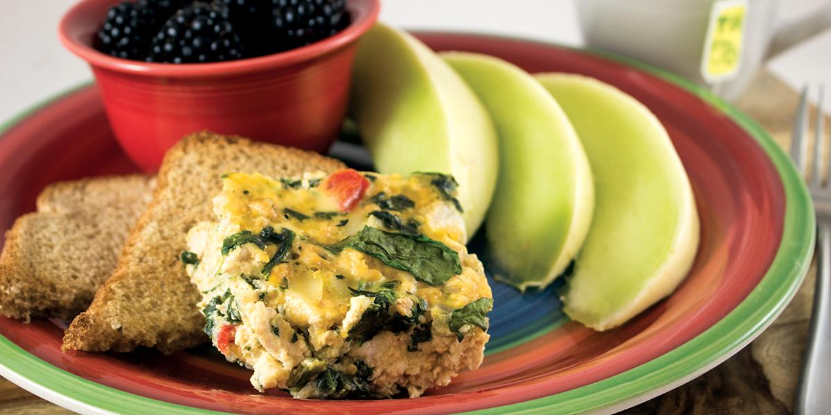 Plate of Turkey Breakfast Bake