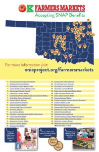 SNAP accepting Farmers Market listed with map of oklahoma