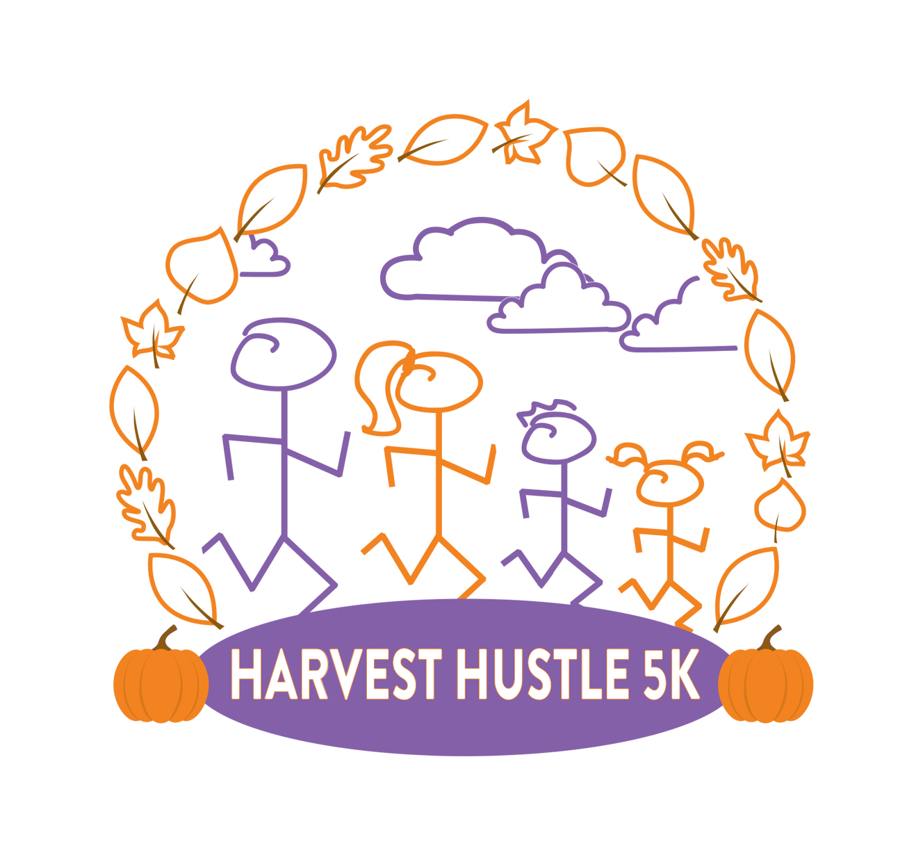 Harvest Hustle 5k logo