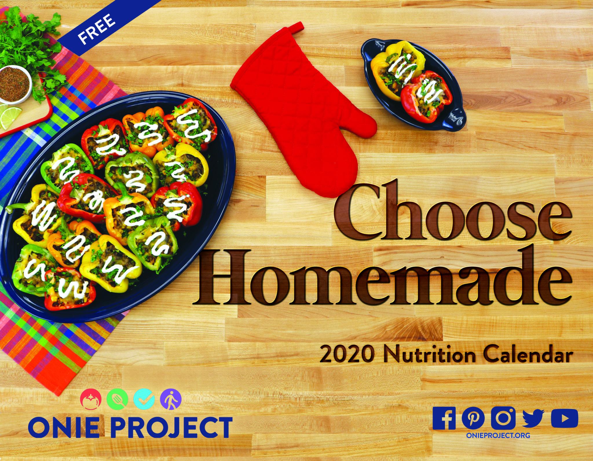 ONIE 2020 Choose Homemade Calendar