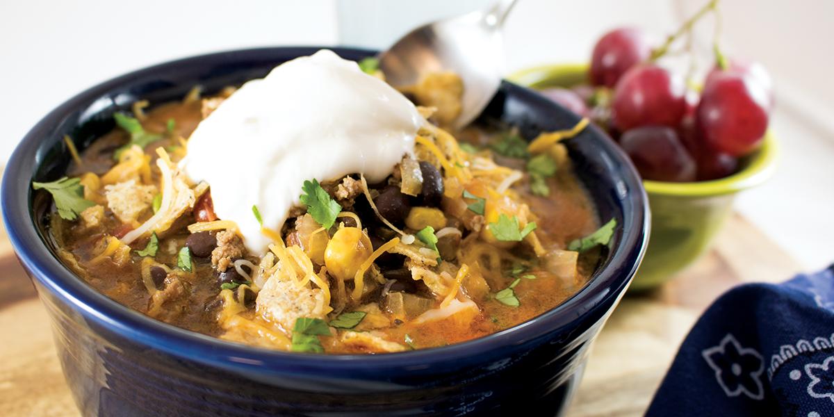 Beefy Taco Soup