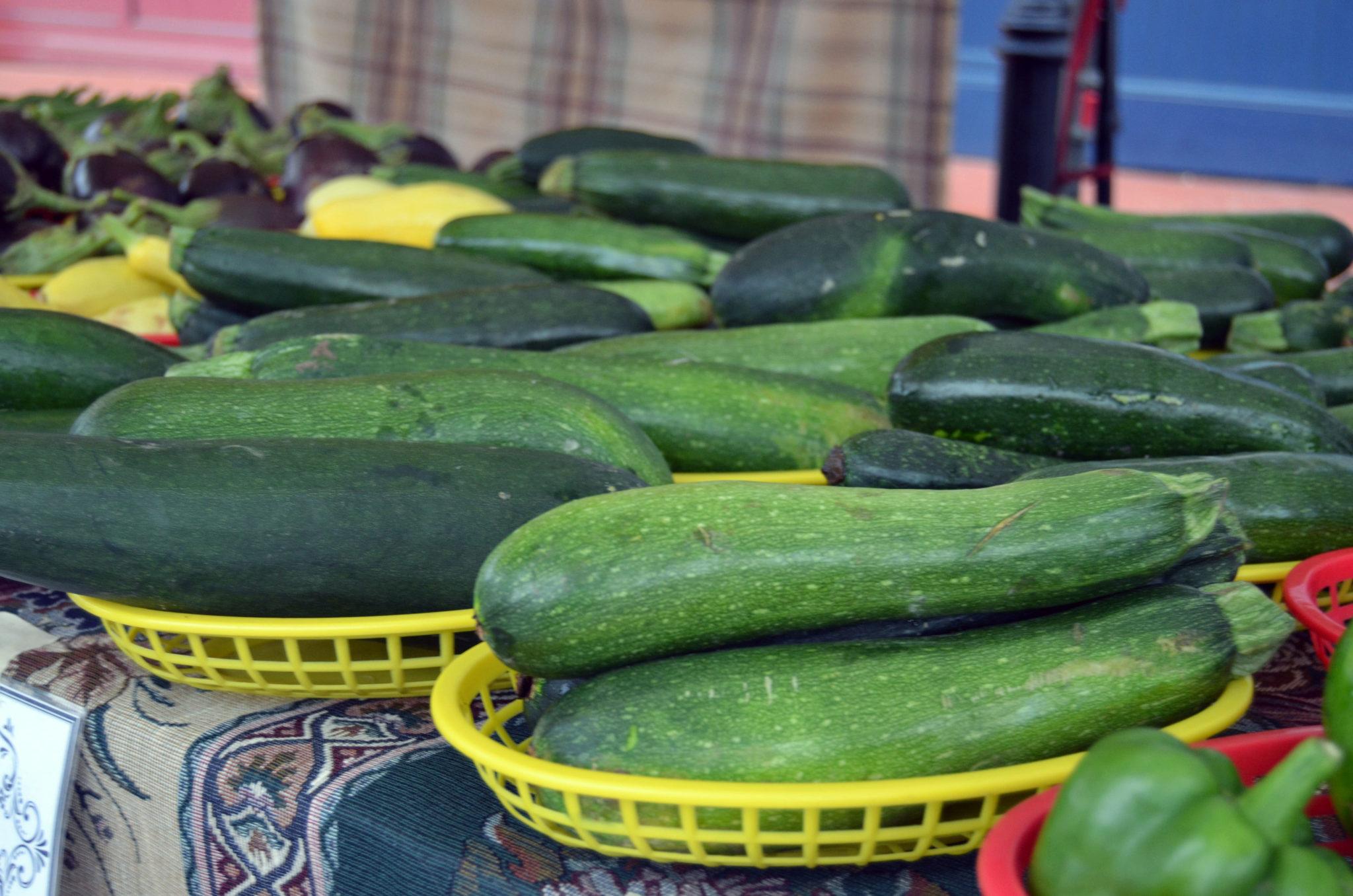 Zucchini at Farmers Market