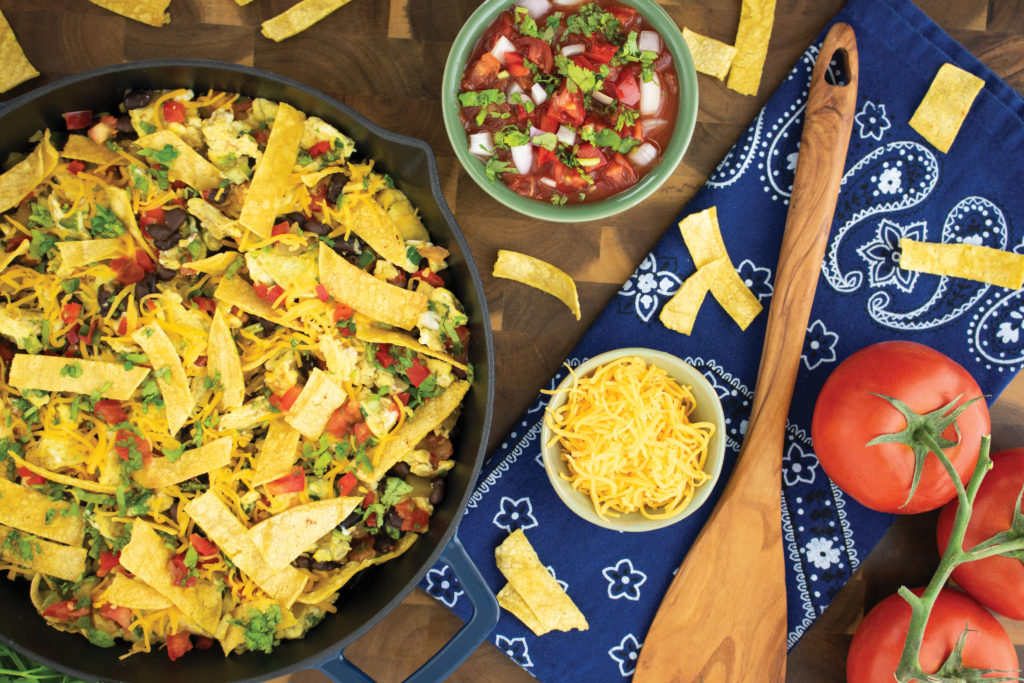 Green chile migas