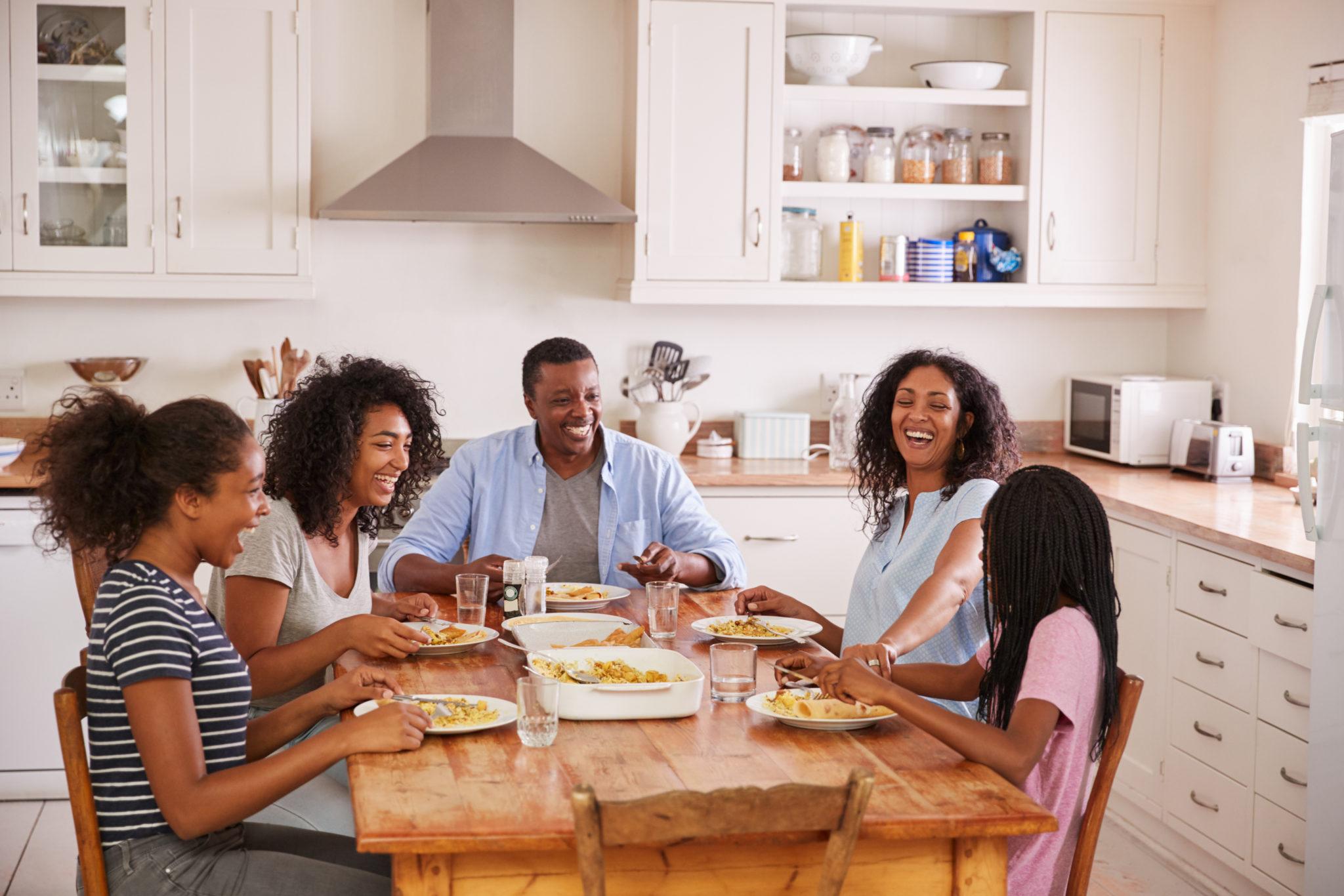 Family at dinner
