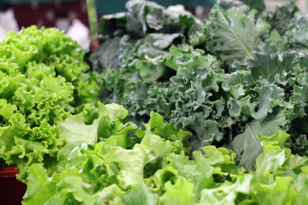 kale and lettuce