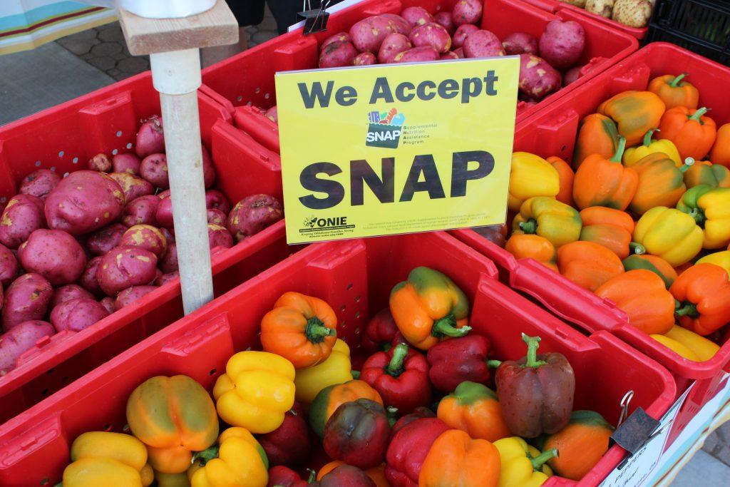 SNAP sign at market